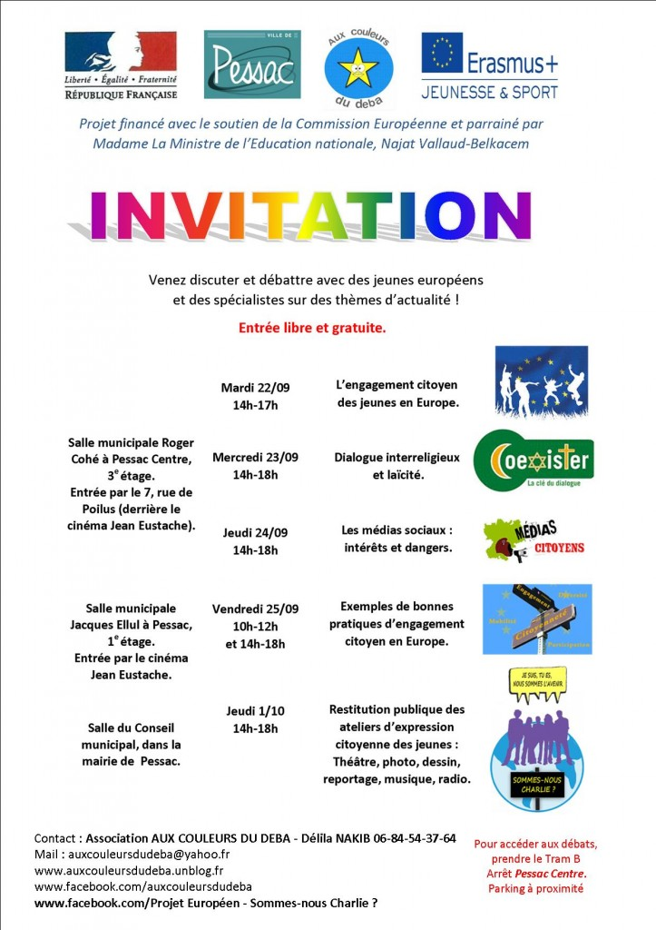 invitation débats européens